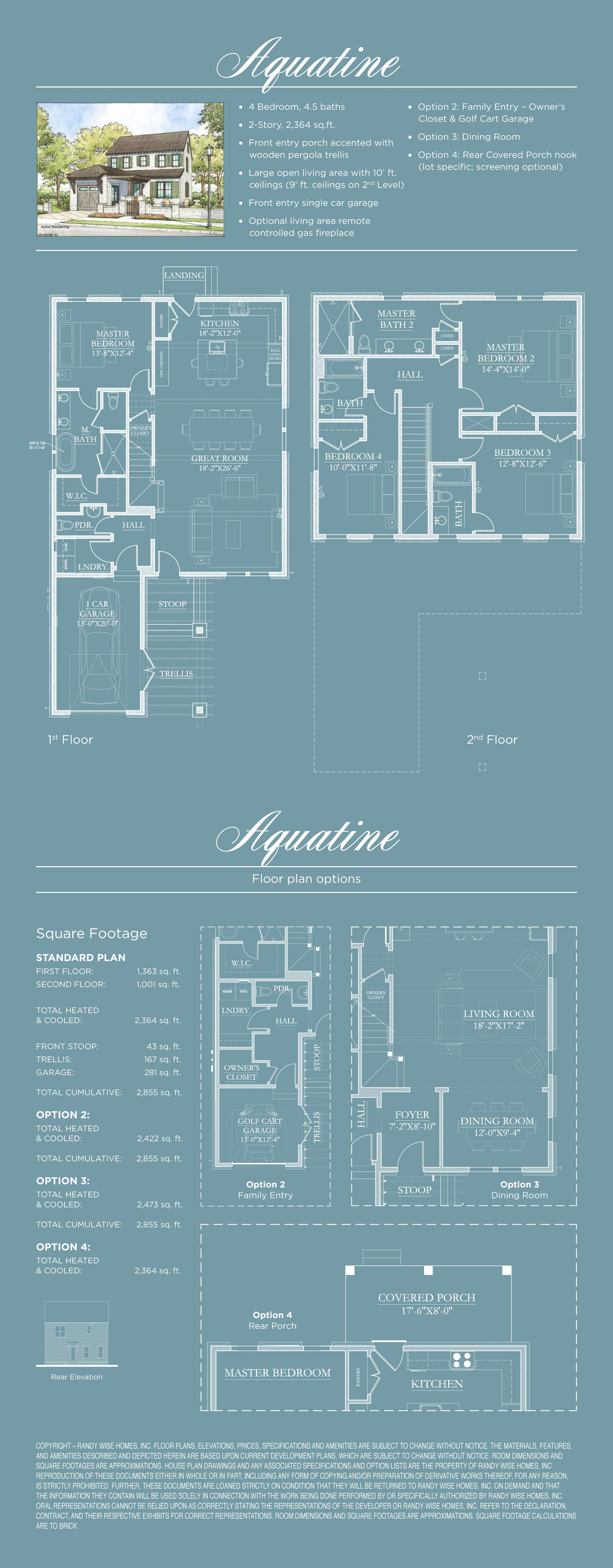RidgeWalk FloorPlans - Aquatine
