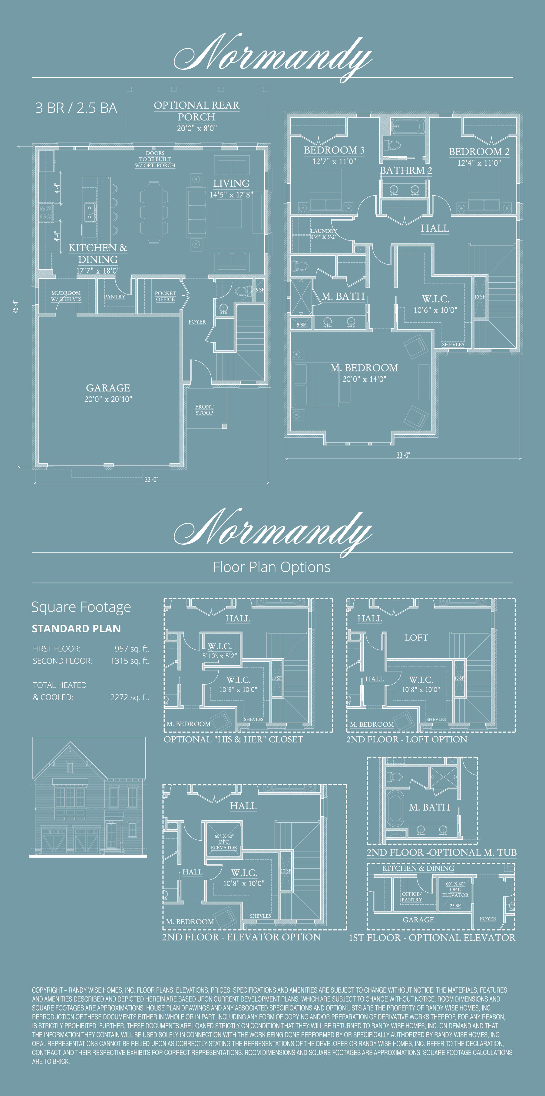 Normandy Floor Plans